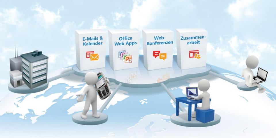 Mit Office 365 als Cloud Service adressiert Microsoft Unternehmen jeder Größe. So kommen auch kleine und mittelständische Unternehmen in den Genuss professioneller IT-Lösungen für die Zusammenarbeit, Web-Conferencing und das Informationsmanagement.