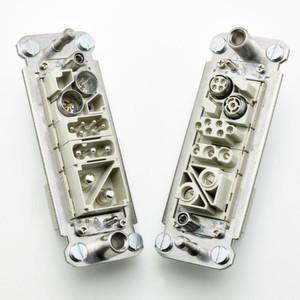 Der neue Andockrahmen von Ilme ermöglicht das selbstzentrierende Stecken zweier Steckverbinderhälften an Anlagenteilen ohne Gehäuse.