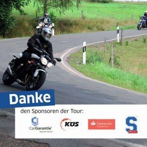 Motorradtour 2014: Sponsoren und Förderer erhöhen das Drehmoment