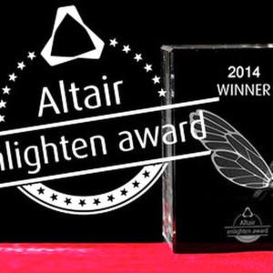 Den ersten Platz des Altair Enlighten Award 2014 belegte Jaguar Land Rover für die Entwicklung und Einbindung der Premium Lightweight Architecture (PLA) Designkonzepte. Den zweiten Platz erhielt Dow Automotive Systems mit einer Aluminium-Verbindungslösung.