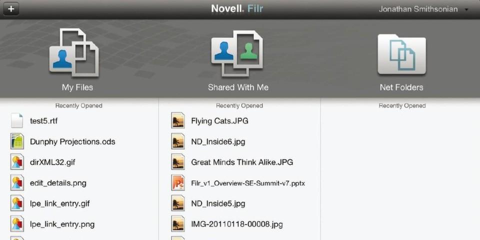 Mit Novell Filr können Mitarbeiter mobil auf Unternehmensdaten zugreifen.