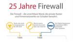 2014 wird die Firewall 25 Jahre alt. Schadware und Sicherheitslösungen werden immer raffinierter und schaukeln sich gegenseitig immer weiter in die Zukunft. Die Next Generation Firewall erkennt nicht nur ob der Sender kritisch ist, sonder prüft auch den Inhalt der Datenpakete.