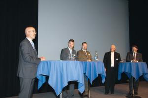 Die OTS-Referenten stellten sich an der Veranstaltung den Fragen von Peter Frischknecht.