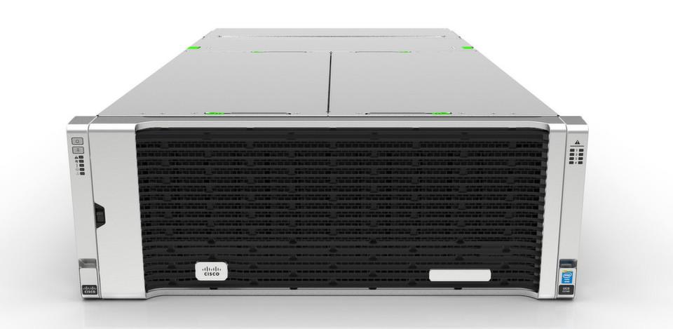Cisco UCS C-Serie von der Front-Seite aus gehört zu den Datacneter-Servren mit mehr Performance und höherer Skalierbarkeit.