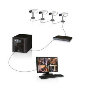 """Die """"Axis Camera Companion""""-Software kommuniziert mit dem Netzwerkspeicher und erlaubt eine zentrale Konfiguration."""