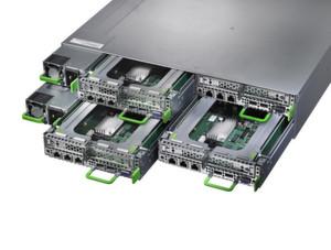 Eine offenes System Primergy CX400 von Fujitsu
