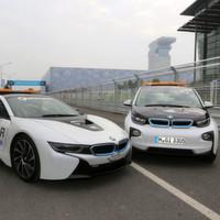 BMW i8 als Safety Car und i3 als Medical Car im Einsatz