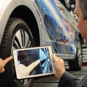 Mit dem iPad können Schäden am Fahrzeug schnell erfasst und archiviert werden.