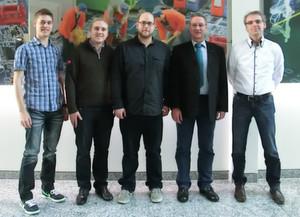 Das Mainframe-Kernteam auf einen Blick: (von links nach rechts:)Simon Bierwald, Julian Pape, Sebastian Fuchs, Gerhard A. Hauser und Raimund Süss.