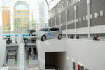 Ein schwebendes Auto sorgte für Aufsehen in den Messehallen.