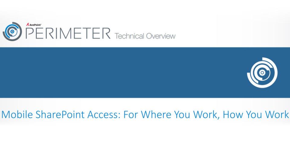 AvePoint Perimeter 1.3 soll Sicherheit und mobile Nutzung unter einen Hut bringen.
