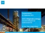 """GVC-Mitgliederumfrage 2014: """"Innovationsfähigkeit der Verfahrenstechnik""""."""