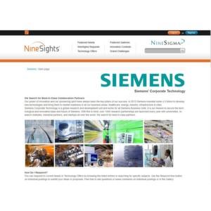 Ab sofort können innovative Köpfe und Unternehmen weltweit ihre Vorschläge zu den Gesuchen von Siemens auf Ninesights.com einreichen und in Kontakt mit anderen Forschern treten.