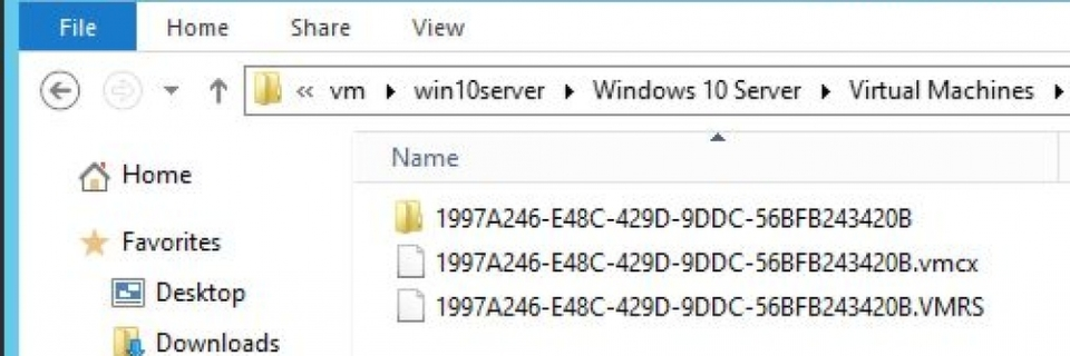 Neues Format für VMs in Windows 10 Server