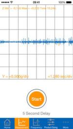 Bei der App VibroChecker von ACE Stoßdämpfer hilft der Bewegungssensor des iPhones bei der Vibrationsisolation.
