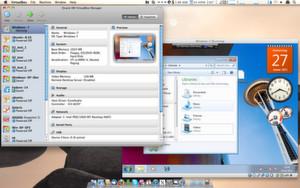 Virtual Box for Mac OS X. Hier läuft Windows 7.