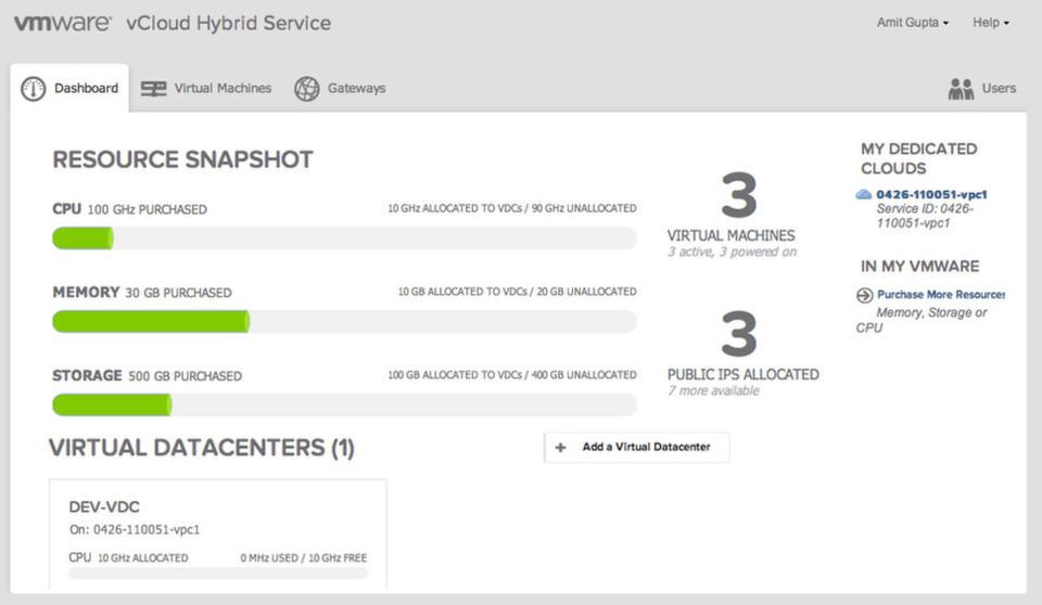 VMware erweitert seine Ressourcen für vCloud Air (vCloud Hybrid Service) und die Kunden können ihre Infrastruktur durch diesen Dienst aus einem hiesigen Rechenzentrum ausdehnen.