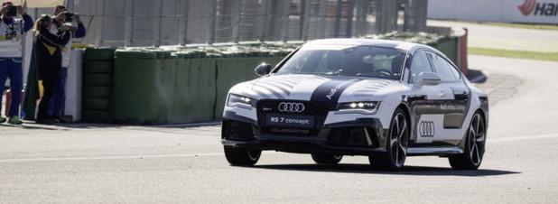 Der Audi RS 7 concept am Limit: fahrerlos rund um den Hockenheimring