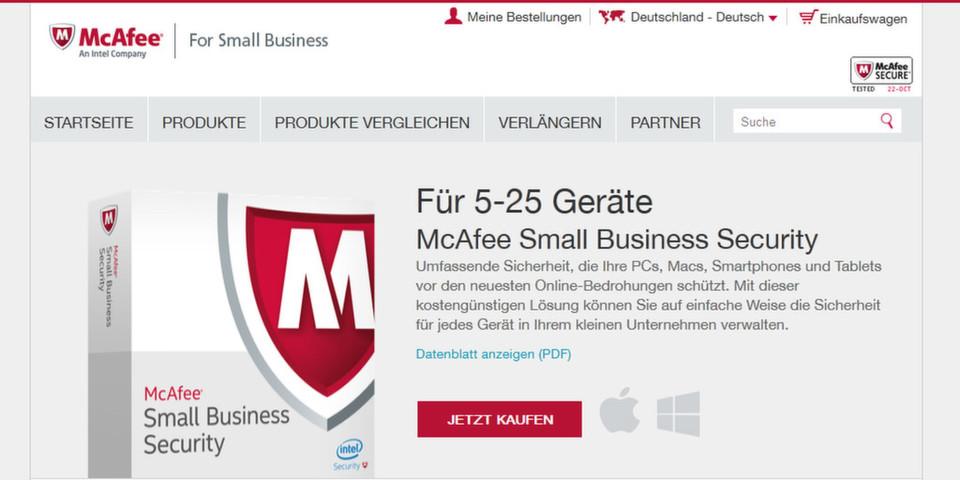 Die neuen Sicherheitspakete von McAfee bieten kleinen und mittleren Unternehmen bezahlbaren Schutz vor Malware und Sicherheitslücken auf PCs, Macs und Android-Geräten.
