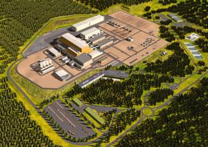 So soll das ITER-Areal (International Thermonuclear Experimental Reactor) aussehen, wenn alles fertiggestellt wurde. Das erste Plasma soll 2020 erzeugt werden.