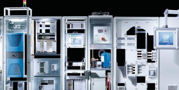"""Das Schaltschranksystem TS 8 bildet die Grundlage für das Systemprogramm """"Rittal – Das System"""" mit Stromversorgung, Klimatechnik, IT-Struktur und Planungswerkzeug."""