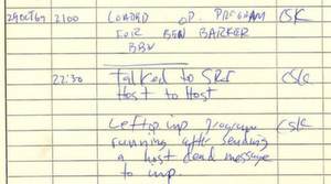 Quasi die Geburtsurkunde des Internet: Das kurze handschriftliche Protokoll der ersten Datenübertragung im ARPANET
