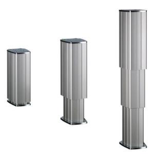 Die Hubsäulen-Familie von Thomson umfasst drei Modelle. Ihre äußere Ummantelung besteht aus Aluminium-Strangpressprofilen; zusätliche Abdeckungen oder Hüllen können entfallen.