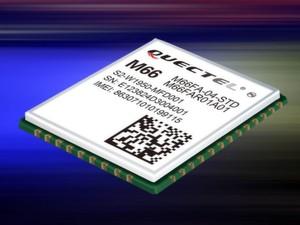 GSM/GPRS-Modul M66 von Quectel: im kleinen 44-Pin-LCC-Gehäuse