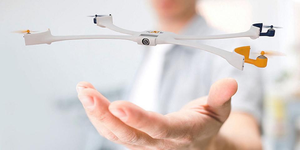 Das Sieger-Projekt Nixie (Team USA): eine am Handgelenk getragene, fliegende Kamera