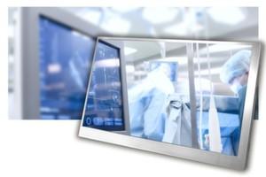 Displays für das mediziische Umfeld gibt es mit und ohne Touch-Funktion. Wichtiges Kriterium ist die Langzeitverfügbarkeit der Geräte.