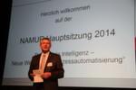 Dr. Wilhelm Otten, Vorsitzender der Namur bei der Eröffnung.