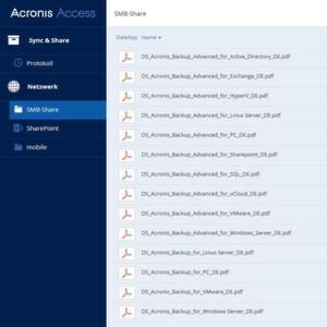 Acronis Access 7 ist für kleine und mittelständische Unternehmen (SMB; small and medium-sized businesses) konzipiert.