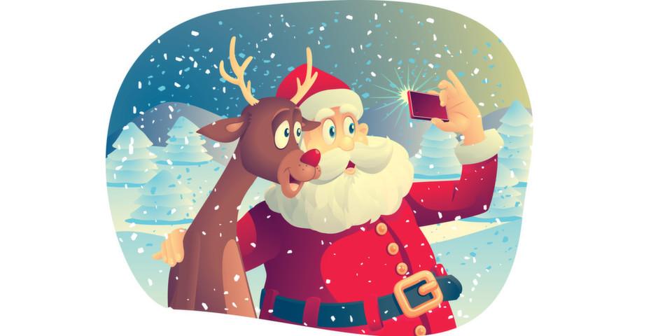 Auch der Weihnachtsman und Rudolph kommen an der Technik-Welt nicht vorbei.