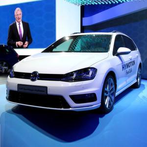 Volkswagen präsentierte auf der Los Angeles Autoshow in einer Weltpremiere den Golf Variant HyMotion.