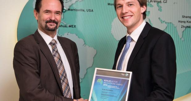 Dr. Mühlbauer erhält Bühler Motor Mechatronic Award 2014