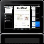 Mobil: Die digitale Personalakte auf Smartphone und Tablet. Hier die iAkte von aconso auf dem iPad ...