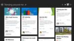 Der Ansatz von Microsoft: In einer Win8-Benutzeroberfläche zeigt MS Delve neue Nachrichten und Aufgaben an.
