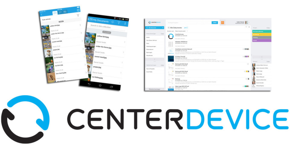 CenterDevice funktioniert plattformübergreifend im Browser. Dedizierte Clients gibt es für Windows, OS X, Android und iOS.