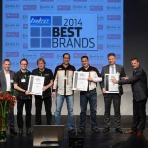 »bike und business« zeichnete am 27. November in Würzburg die Best Brands 2014 aus.