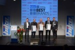 """Best Brands 2014 """"Bekleidung"""": Andreas Greil (IXS), Herbert Brogl (Germot) und Matthias Klein (Büse)."""