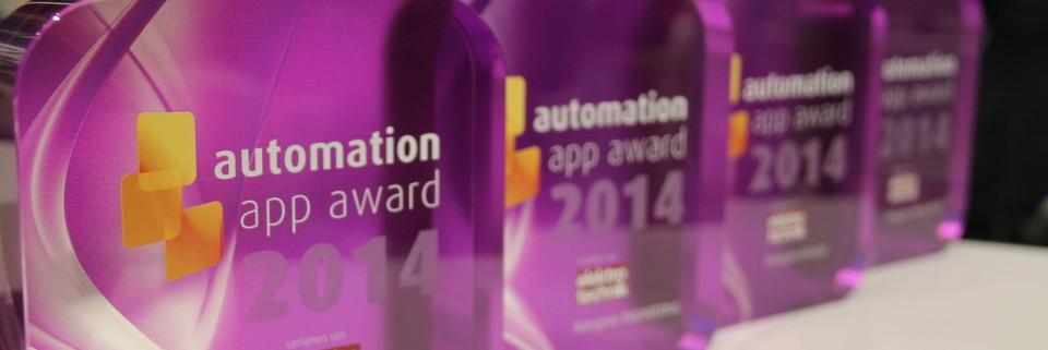 Unter allen 12 Shortlist-Platzierten wurden am 26. November 2014 auf der SPS IPC Drives die vier besten Automatisierungs-Apps mit dem automation app award gekürt.
