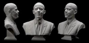 Als erstes bedeutendes Staatsoberhaupt hat sich Barack Obama für ein 3-D-Modell digitalisieren lassen.