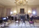 Aufbau des Rigs im State Dining Room des Weißen Hauses