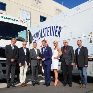 Duvenbeck bleibt für weitere fünf Jahre Transport-Generalunternehmer des Mineralwasser-Produzenten Gerolsteiner.