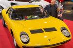 """""""Best of Show"""" unter den auf der Messe angebotenen Oldtimern: ein 72er Lamborghini Miura SV."""