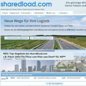Der Mitfahrdienst für Paket- und Palettensendungen sharedload.com bietet jetzt Festpreise auf bestimmten Strecken.