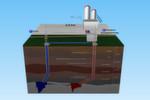 Wärme aus der Tiefe: Bis zu 150 Liter Heißwasser pro Sekunde werden in der neuen Geothermie-Anlage ab Ende 2015 zur CO2-neutralen Wärmeerzeugung gewonnen.