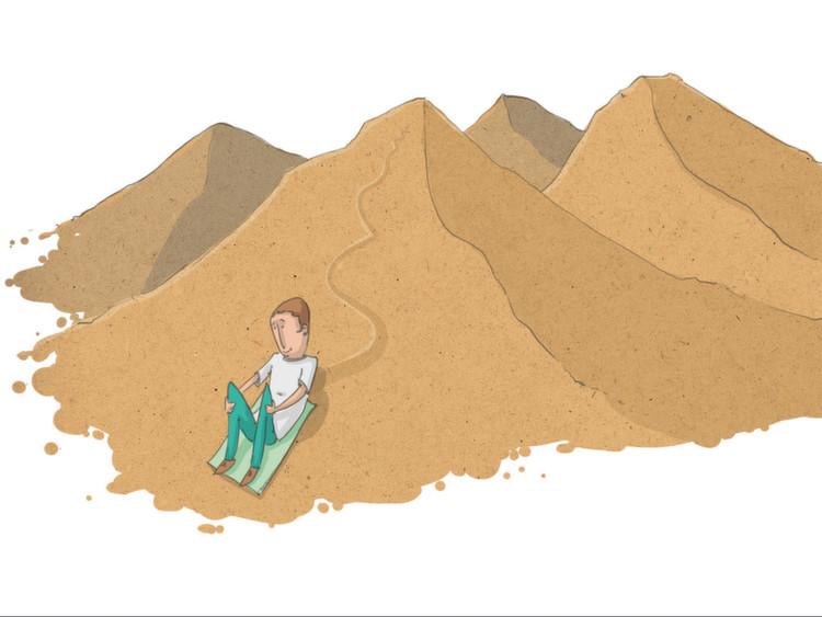 Was heute fürs Sandboarding noch jedoch fehlt, ist an die Verhältnisse vor Ort angepasstes Equipment. Die
