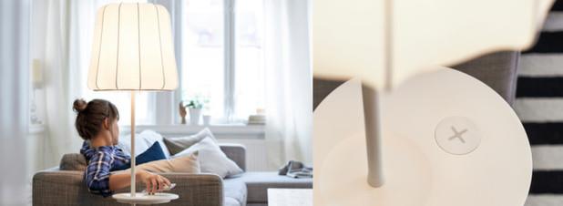 ikea m bel laden smartphones co kabellos. Black Bedroom Furniture Sets. Home Design Ideas