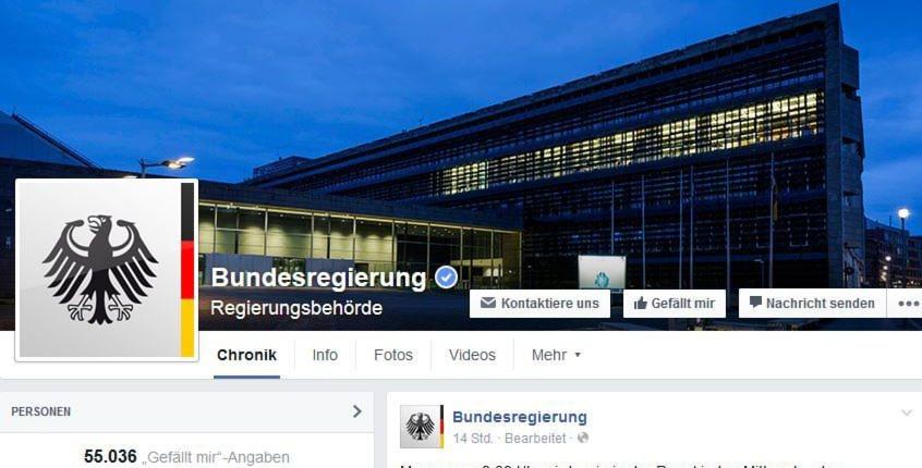 Laut Kuppinger sorgt die Bundesregierung mit ihrem Facebook-Profil dafür, dass Facebook indirekt auch Informationen über die politischen Interessen und Präferenzen der Nutzer erhält